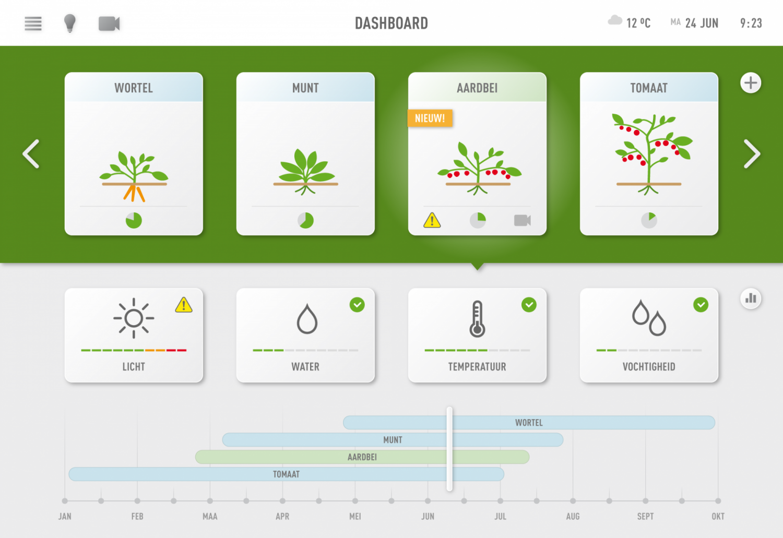 Bekijk jouw gewassen op de Kweecker Dashboard App.